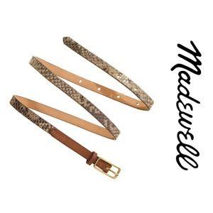 Madewell Snakecharmer Skinny Belt